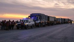 SARC delivers new aid convoy to locals in Raqqa