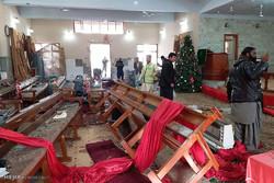 مشاهد من الهجوم الارهابي على كنيسة في باكستان/ صور