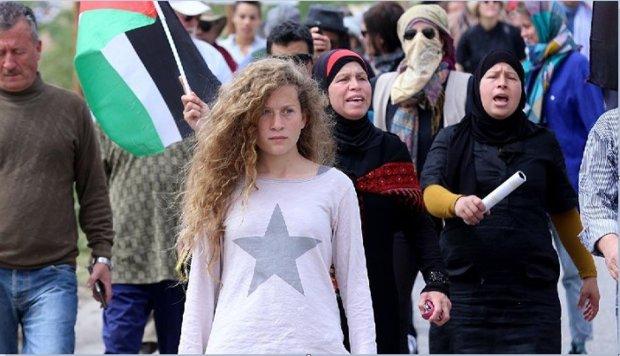 الاحتلال الصهيوني يعتقل عهد التميمي الطفلة المناضلة الفلسطينية