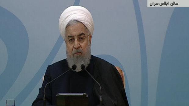 روحاني: الانسجام الداخلي تجاه الغوغائيين خلق نجاحا جديدا امام الأعداء