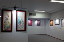 نمایشگاه نقاشیخط «لعل خاموش» در اردبیل گشایش یافت