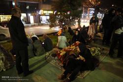 حضور مردم تهران در سطح شهر در پی احساس زلزله