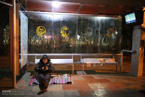 Tahran halkı geceyi dışarıda geçirdi