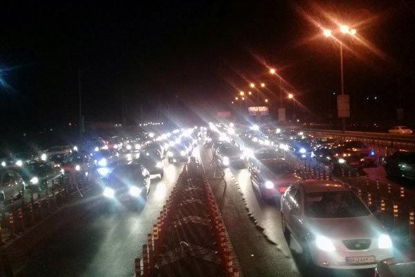 ترافیک سنگین در آزادراه کرج، قم و غرب تهران