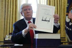 امضا قانون مالیاتی توسط ترامپ