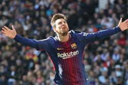 دیدار تیم های فوتبال رئال مادرید و بارسلونا - لیونل مسی