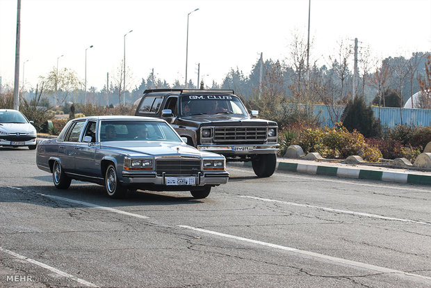 Exhibition of classic cars in Tehran