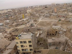 Run-down areas, subsidence dragging down Tehran