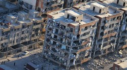 A view of buildings damaged by the magnitude 7.3 earthquake which hit western city of Sarpol-e Zahab on November 12