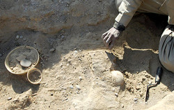 Archaeologists unearthed considerable numbers of prehistoric pottery fragments at the Nadali-Beig Hill in western Iran.