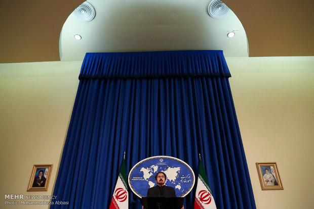 المؤتمر الصحفي للمتحدث باسم الخارجية الايرانية بهرام قاسمي