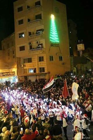سوريا تحتفل من جديد بولادة المسيح (ع) بعد انتصارها على الارهاب