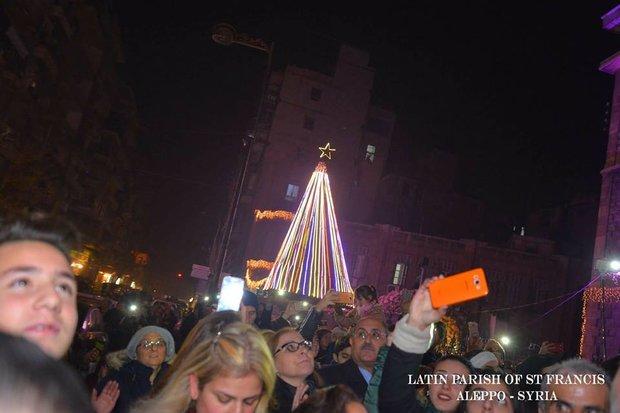Suriye'deki Noel kutlamalarından kareler