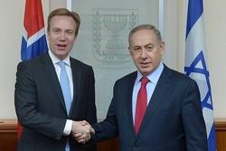 نخست وزیر اسرائیل و وزیر خارجه نروژ