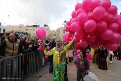 جشن کریسمس در فلسطین