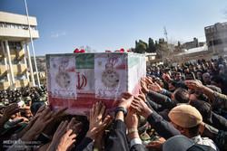 تشییع پیکر سرهنگ شهید مرزبانی رسول طالبی در شیراز