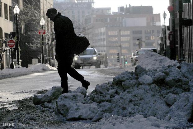 بارش برف در آمریکا