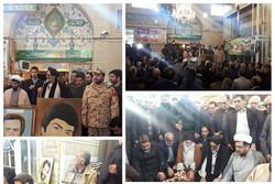 مزار شهدای ۱۰دی ورامین گلباران شد/اهدا هزینه مراسم به زلزله زدگان