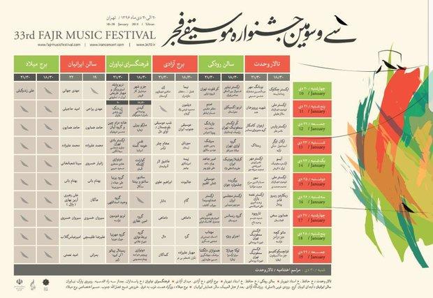 جمهرة الموسيقى في طهران بحضور محلي وعالمي