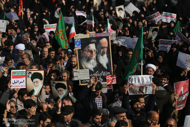 Iranians mark pro-Islamic Republic rallies of 2009