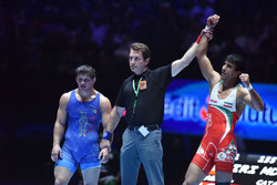 Iranian wrestler's bout among GR Matches of Year