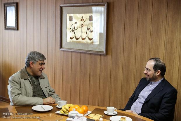 المتحدث باسم وزارة الداخلية الإيرانية بزيارة تفقدية لوكالة مهر