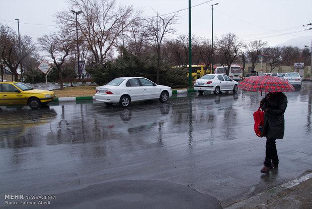 بارش برف و باران زنجان را فرامیگیرد