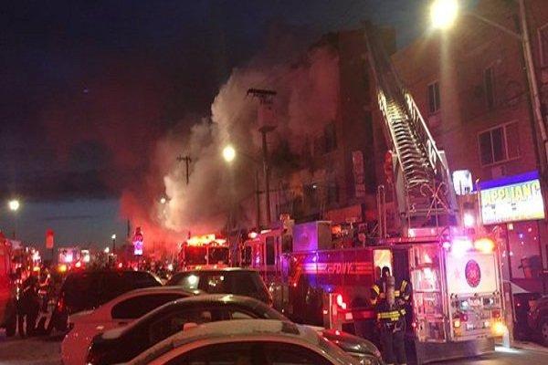 ۱۶ مصدوم بر اثر آتش سوزی در ساختمانی در نیویورک