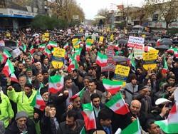المدن الايرانية تشهد مسيرات شعبية مؤيدة لنظام الجمهورية الاسلامية