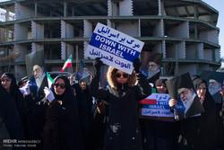 تجمع علیه اقدامات اغتشاشگران مردم شهر اراک