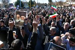 مسيرة سكان مدينة الاهواز لادانة اعمال الشغب الاخيرة/فيديو