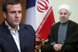 Hassan Rouhani Emmanuel Macron