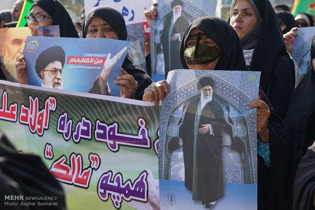 """İran'ın dört bir yanında """"destek gösterileri"""" yapıldı"""