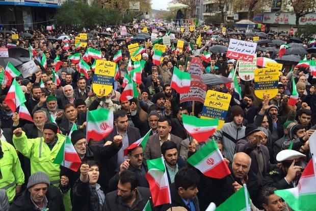 İran'da milli birlik yürüyüşleri düzenlendi