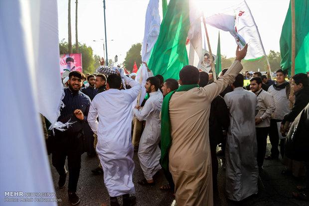 تجمع و راهپیمایی مردمی در اعتراض به آشوب های اخیر در خوزستان
