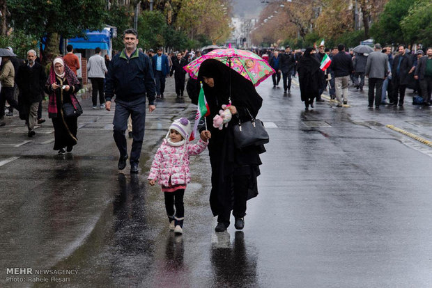تظاهرات الشعب الايراني لإدانة اعمال الشغب في مختلف المدن الايرنية