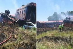 برخورد قطار با کامیون در آفریقای جنوبی با ده ها کشته و زخمی