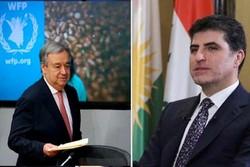 درخواست گوترش از بارزانی برای حل سیاسی بحران بغداد- اربیل