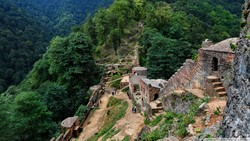 Rudkhan Castle, called Qal'eh Rudkhan in Persian, is an ancient a military fortress situated in northern province of Gilan which is now a tourist destination especially during new year or summer holid