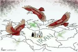 """كاريكاتير صحيفة """"غارديان"""" البريطانية عن احتجاجات ايران"""