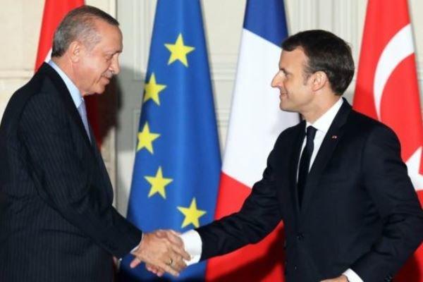 اردوغان با ماکرون درباره عملیات «شاخه زیتون» گفتگو کرد