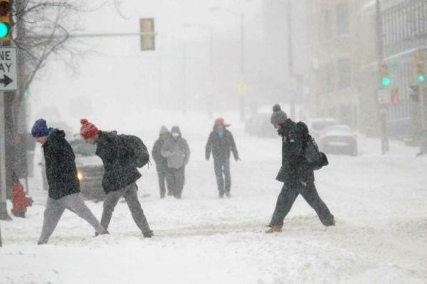 برف و یخبندان در آمریکا