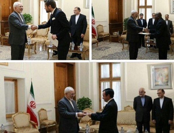 Poland, Ghana, Chile submit credentials to FM Zarif