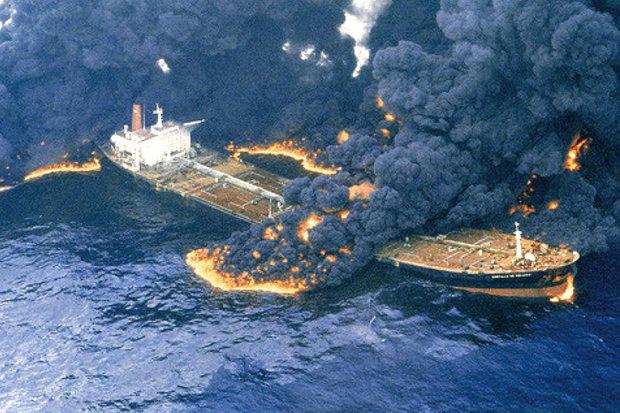 بزرگترین حوادث نشت کشتیهای نفتکش از سال 1970 به بعد