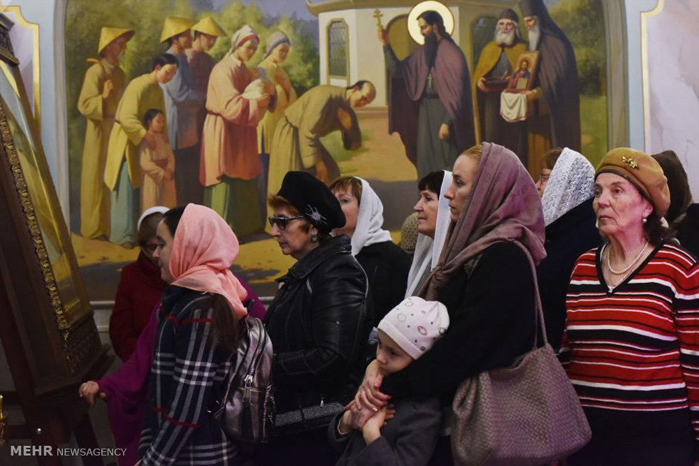 مراسم کریسمس مسیحیان ارتدوکس روسیه