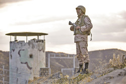 A peek into daily life of border guards (Photo by Seyyed Saleh Pir-Khezranian/IRNA)