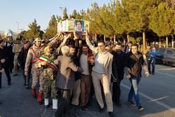 استقبال از شهید تفحص شده دفاع مقدس شاهرود شهید خانلرخانی - کراپشده