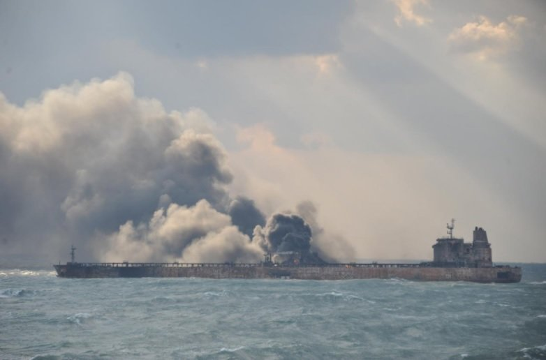 Iran holds out hope for survivors on burning oil tanker