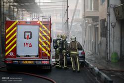 آتشسوزی یک ساختمان در چهارراه کالج