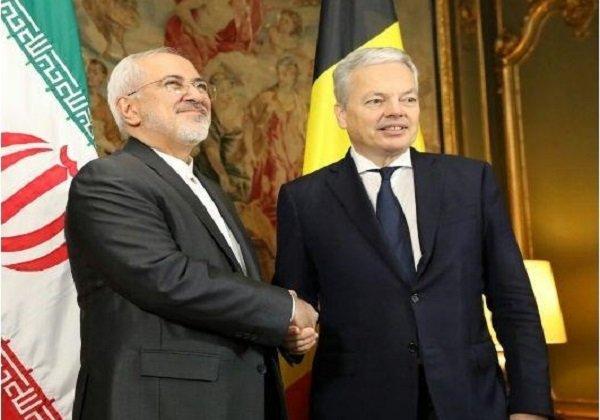 ایران اور بیلجیئم کے وزراء خارجہ کی ملاقات